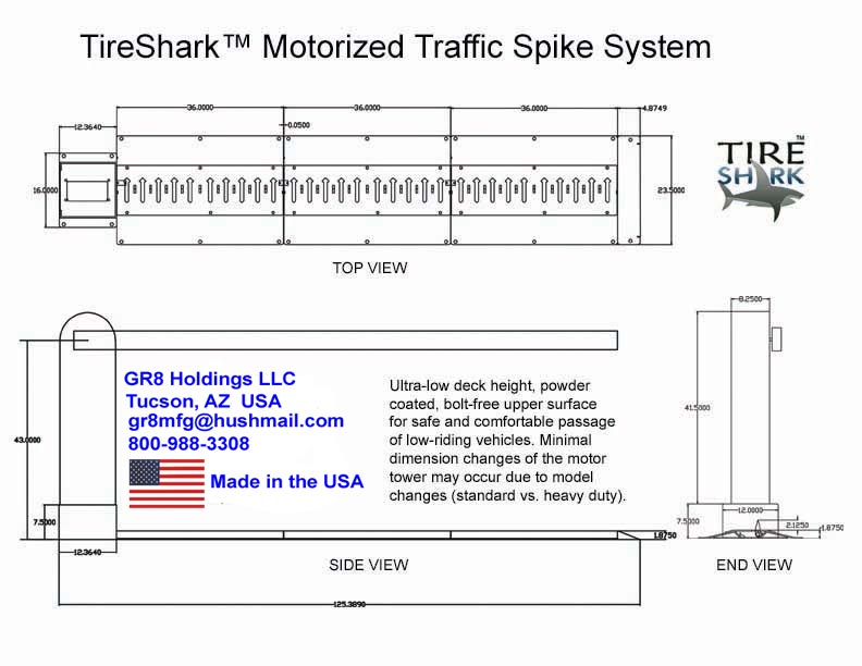 Motorized Traffic Spikes Drawing July 8 2021 A